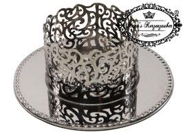 Kerzenständer Ornament KST 134-70 silber glänzend