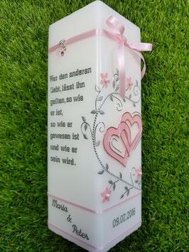 Hochzeitskerze HKS213 Rosa Uni