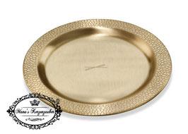 Kerzenteller Lederoptik KST 176 Gold rund 10 cm