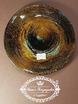 Kerzenteller KST 202 kupferbraun/rot/gold Glas