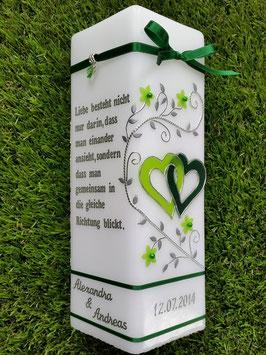 Hochzeitskerze HKS215 Apfelgrün-Grün Uni