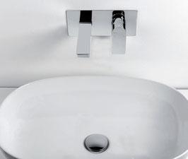 Mix lavabo a muro con placca Pois