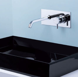Mix lavabo a muro con placca Reverso