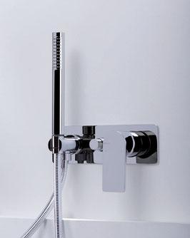 Mix doccia-vasca filomuro Pois
