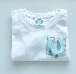 Camiseta infantil plumas