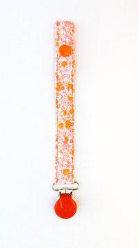 Chupetero flores naranja