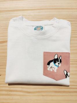 Camiseta bulldog rosa