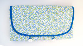 Cambiador flores azul