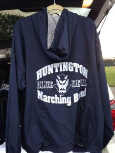 Portsmouth Hooded Lined Jacket with Marching Band Logo on back