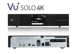 VU+® Solo 4K 2x DVB-S2 FBC Tuner PVR Twin Linux Receiver UHD 2160p + 1x DVB-C/T2 Single Tuner