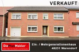 VERAKAUFT - PLZ 48231 - Obj-Nr. 797 - EIN- ODER MEHRGENERATIONENHAUS IN WARENDORF-HOETMAR