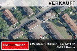 PLZ 59071 - Obj-Nr. 821 - 6 Mehrfamilienhäuser kaufen in Hamm