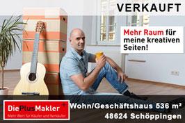 PLZ 48624 - Obj-Nr. 597  - Wohn- und Geschäftshaus in Schöppingen