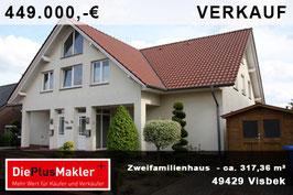 PLZ 49429 - Obj-Nr. 875 -Zweifamilienhaus in Visbek
