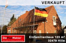 VERKAUFT - 533 - 32479 - Haus kaufen in Hille / Region Minden