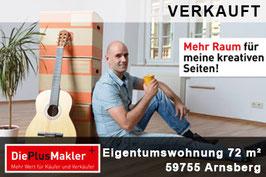 VERKAUFT - 641 - 59755 - Wohnung kaufen in Arnsberg / Region Soest - 641