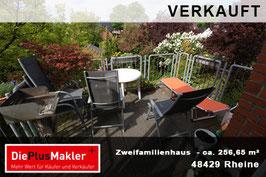 VERKAUFT - PLZ 48429 - Obj-Nr. 769 - Zweifamilienhaus in zentraler Lage von Rheine