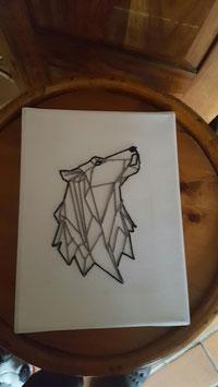 Tableau Brodé Origami