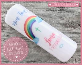 DIY Taufkerze Regenbogen - Laura