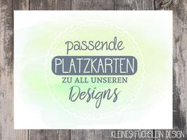 Passende Platzkarten zu all unseren Designs