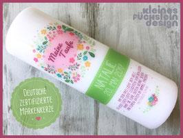 Taufkerze Blumenkreis, Farbvariante Natalie