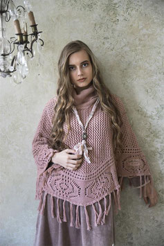 "PONCHO ""COSY MOMENTS"" VIEUX ROSE / JEANNE D'ARC LIVING"