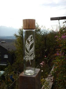 Wasserflasche Feder