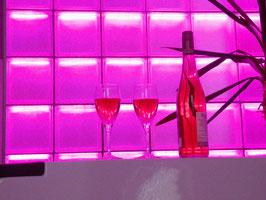 LiBlox easyChange25 (25 beleuchtete Glasbausteine , Steckernetzteil, Wifi Touch Controller, Beschreibungen)