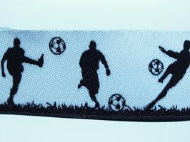 Fußballer schwarz-weiß, 20 mm