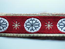Schneeflocken rot, 12 mm