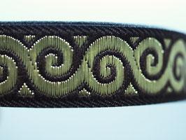 Jacquard keltischer Knoten braungold, 16 mm