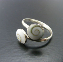 filigraner Ring Shiva Eye 925 Silber