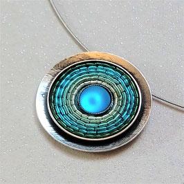 Collier India Antik Blau