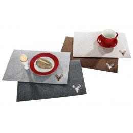 Tischset aus robustem Filz gefertigt