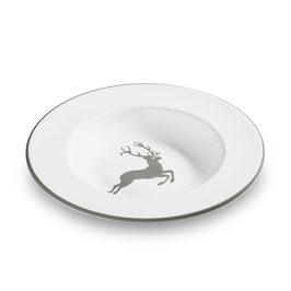 Suppenteller Gourmet grauer Hirsch