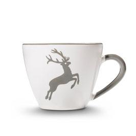 Kaffeetasse  + Unterteller  Grauer Hirsch