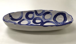 Blue Platter in Circles