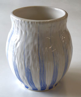 Blue Striped Vase