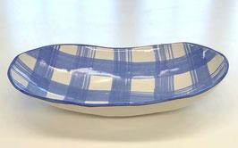 Light Blue Deep Oblong Serving Bowl