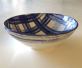 Bowl - study in blue and plaid