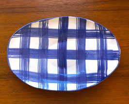 Plaid Platter -study in blue