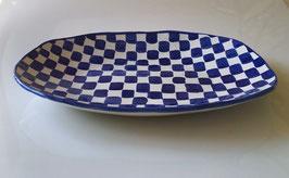 Blue Check Platter #2