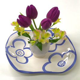 Purely Beautiful- Flower Plate & Cheerful Vase Set