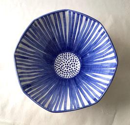 Blue Flower Burst Bowl