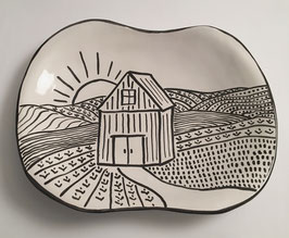 Farm Plate - dinner or serving