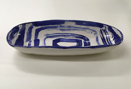 Abstract Oval Bread/Cracker Bowl