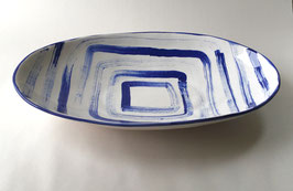 Blue Abstract Platter