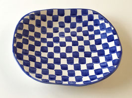 Blue and White Check lunch/dinner plate