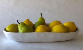 White Oval Bread, Fruit & Cracker Bowl