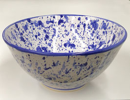 Blue & White Splatter Bowl